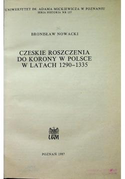 Czeskie roszczenia do korony w Polsce w latach 1290  1335