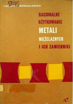 Racjonalne użytkowanie metali niezależnych i ich zamienniki