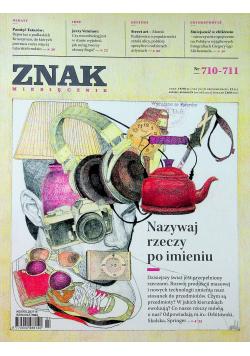 Znak miesięcznik nr 710  711
