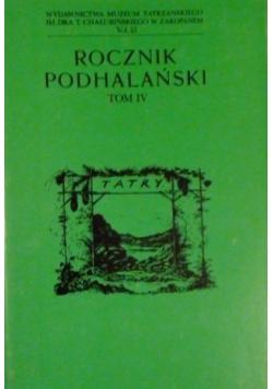 Rocznik Podhalański Tom IV