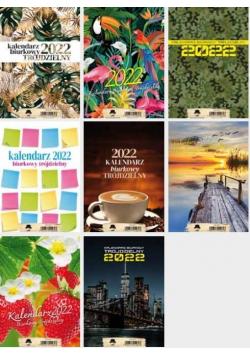 Kalendarz 2022 A5 biurkowy trójdzielny MIX