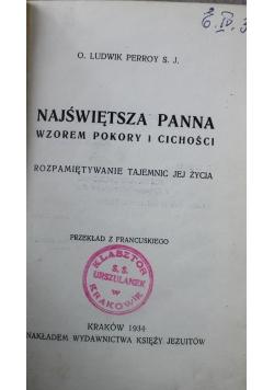 Najświętsza Panna wzorem pokory i cichości 1934 r.