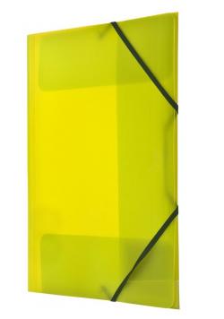Teczka z gumką nar. A4 żółta BT624-Y