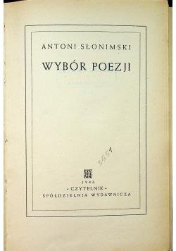 Słonimski Wybór poezji 1946r