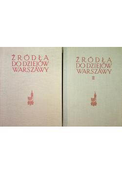Źródła do dziejów Warszawy 2 tomy