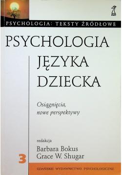 Psychologia języka dziecka
