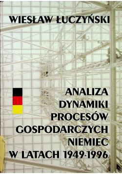 Analiza dynamiki procesów gospodarczych Niemiec w latach 1949 1996