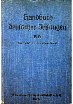 Handbuch deutscher zeitungen 1917 r.
