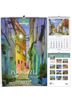 Kalendarz 2022 B3 13 plansz Podróże