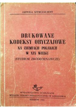 Drukowane kodeksy obyczajowe na ziemiach polskich w XIX wieku