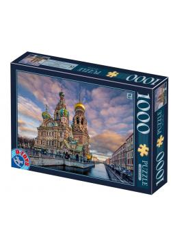 Puzzle 1000 Rosja, Petersburg- Kościół Zbawiciela