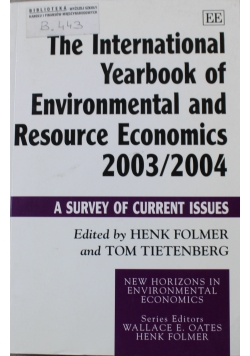 The International Yearbook of Environmental and Resource Economics