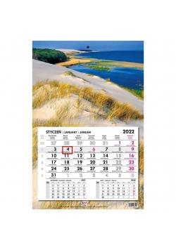 Kalendarz 2022 jednodzielny główka płaska Bałtyk