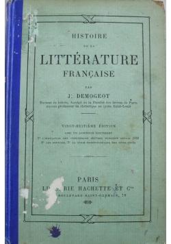Histoire de la Litterature Francaise 1908 r