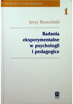 Badania eksperymentalne w psychologii i pedagogice