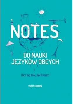 Notes do nauki języków obcych zielony