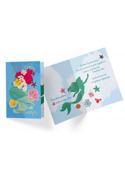Karnet B6 DS-061 Urodziny Syrenka Ariel