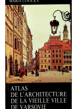 Atlas de l architekture de la vielle ville de varsovie