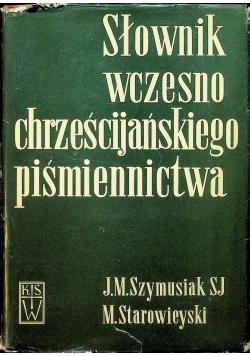 Słownik wczesno chrześcijańskiego piśmiennictwa