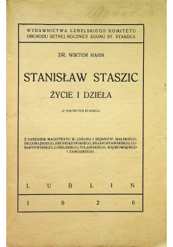 Stanisław Staszic Życie i dzieła 1926r