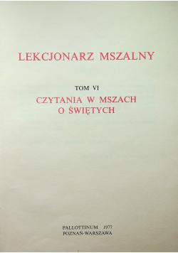 Lekcjonarz mszalny tom VI