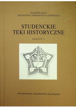 Studenckie teki historyczne zeszyt 3