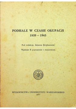 Podhale w czasie okupacji 1939 1945