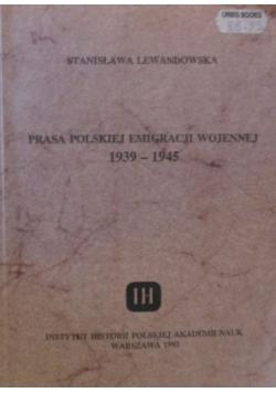 Prasa Polskiej Emigracji wojennej 1939  1945