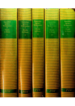 Witkiewicz Dzieła wybrane 5 tomów