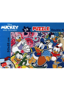 Puzzle dwustronne 24 Mickey and Friends