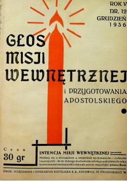 Głos Misji Wewnętrznej Nr 12 1936 r.