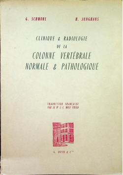 Clinique & Radiologie de la colonne vertebrale normale & pathologique