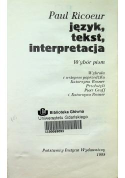 Język tekst interpretacja