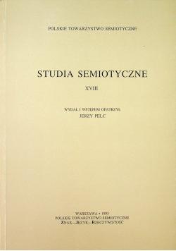 Studia semiotyczne XVIII
