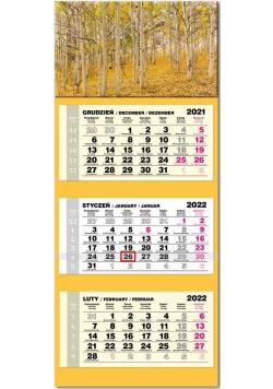 Kalendarz 2022 trójdzielny lux Brzozy