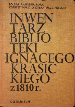 Inwentarz biblioteki Ignacego Krasickiego z 1810 r