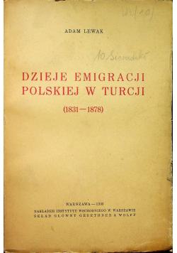 Dzieje emigracji polskiej w Turcji 1935r