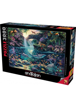 Puzzle 3000 Raj w dżungli