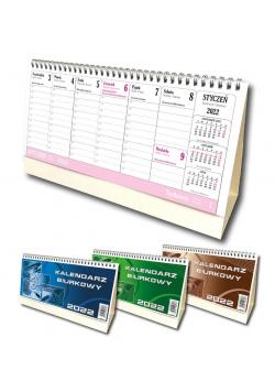 Kalendarz 2022 biurkowy poziom duży mix