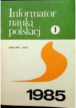 Informator nauki polskiej tom 1
