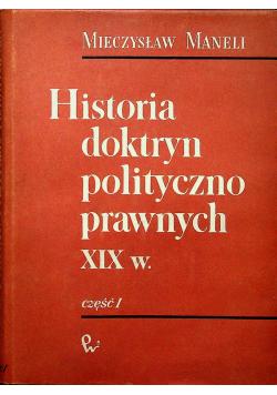 Historia doktryn polityczno prawnych XIX w Część I