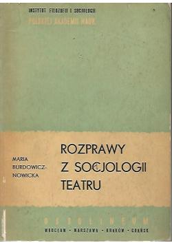 Rozprawy z socjologii teatru