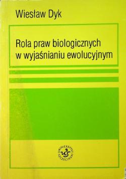 Rola praw biologicznych w wyjaśnieniu ewolucyjnym