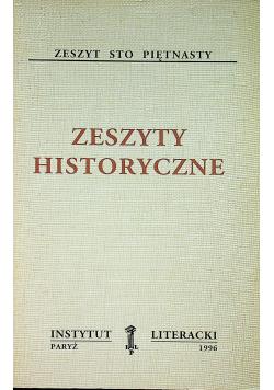 Zeszyty historyczne zeszyt sto piętnasty