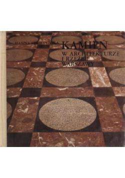 Kamień w architekturze i rzeźbie Warszawy