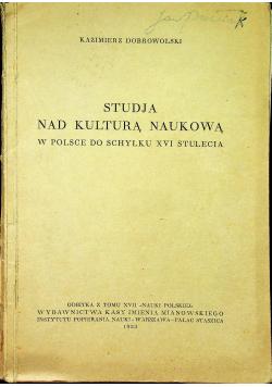 Studja nad kulturą naukową 1933 r.