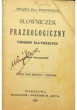 Słowniczek frazeologiczny 1907r