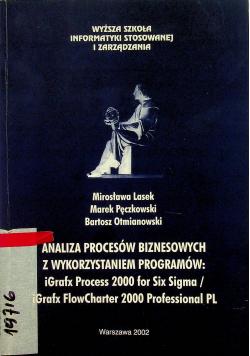 Analiza procesów biznesowych z wykorzystaniem programów