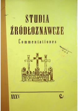 Studia źródłoznawcze tom XXXV