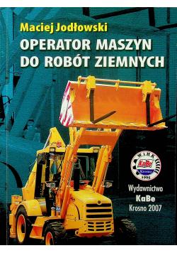 Operator maszyn do robót ziemnych